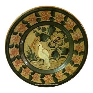 Vintage Mexico Ceramic Dove Decorative Wall Plate