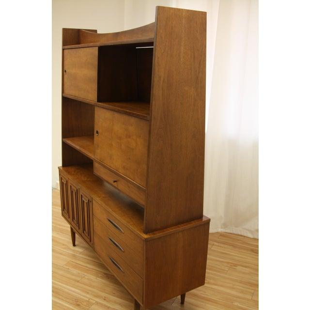 Broyhill Sculptra Room Divider Cabinet Shelving Credenza For Sale