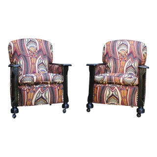Deco Club Chairs - A Pair For Sale