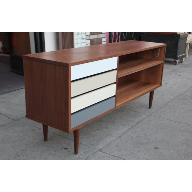 Mid-Century Style Walnut Credenza For Sale In Los Angeles - Image 6 of 11