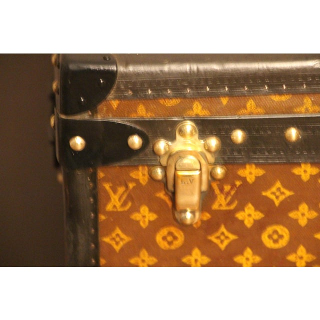 Canvas Louis Vuitton Cube Steamer Trunk For Sale - Image 7 of 13