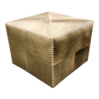 Jamie Young Hobson Cowhide Ottoman