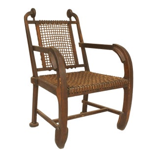 Arts & Crafts Oak Arm Chair For Sale