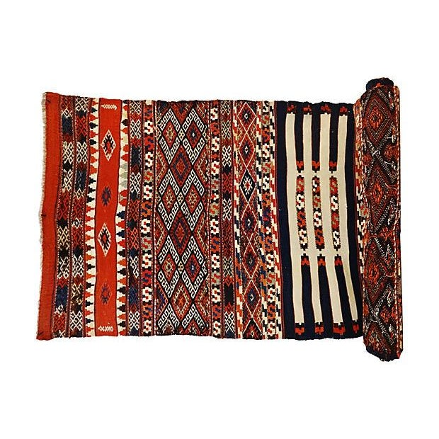 19th Century Azeri Kilim Runner - Image 1 of 7