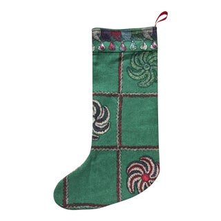 "Custom Osborne & Little Holiday Stocking-Nina Campbell-""Whist"" For Sale"