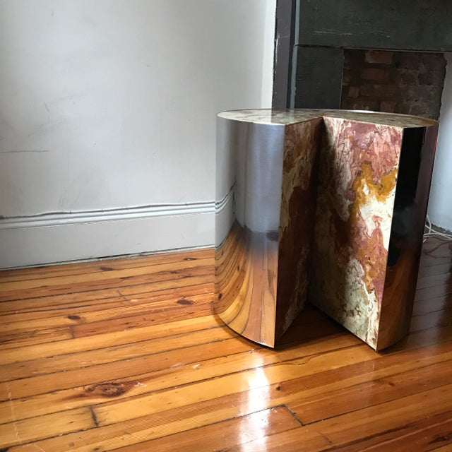 Final Markdown Pace Collection Red Jasper 'Pie' Side Table, 1970 - Image 4 of 9