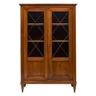Directoire Style French Antique Cherrywood Bookcase For Sale