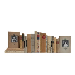 Midcentury Poetry and Plays in Neutral Book Set, (S/20) For Sale
