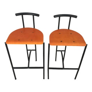1980s Vintage Rodney Kinsman for Bieffeplast Tokyo Bar Stools- A Pair For Sale