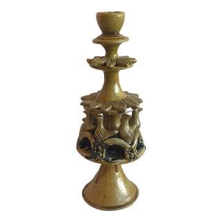 Vintage Ceramic Candle Holder For Sale