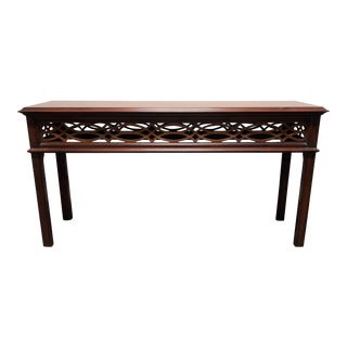 Henkel Harris Solid Mahogany Chinese Chippendale Sofa Table For Sale