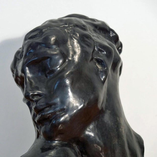 "Figurative 1970s Figurative Bronze Sculpture Bust ""Head of Lust"" by A.Rodin For Sale - Image 3 of 10"