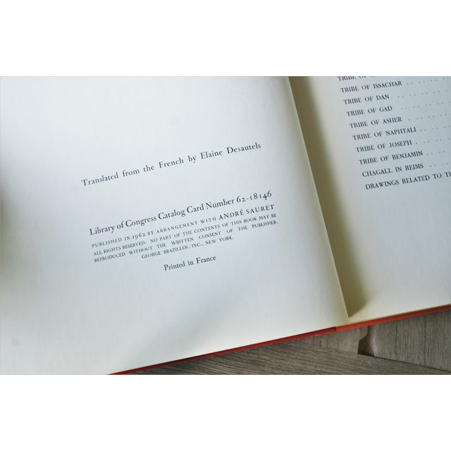 Marc Chagall Marc Chagall the Jerusalem Windows Hardback First Edition Book For Sale - Image 4 of 12