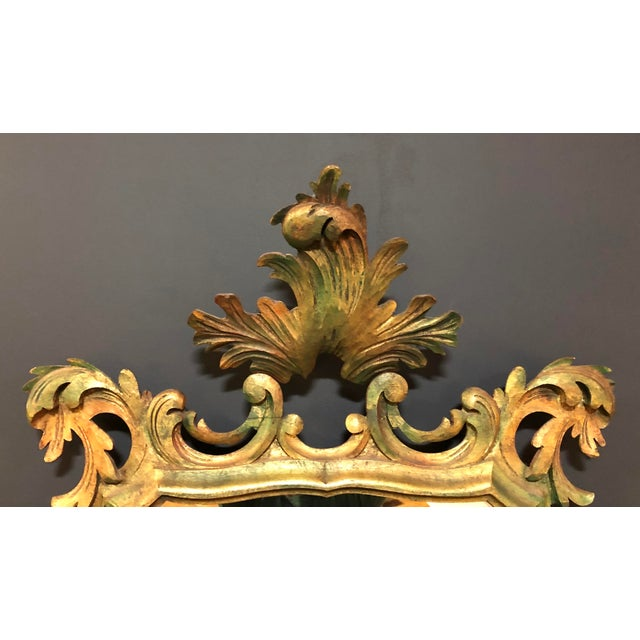 French Antique Gold Gilt Wood Carved Mirror For Sale - Image 4 of 6