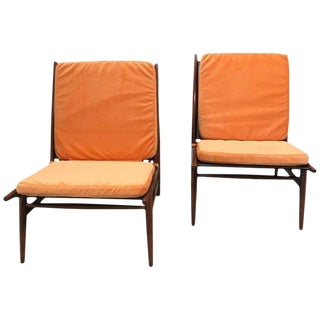 Pair of ISA Italian Club Chairs