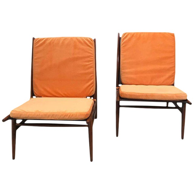 Pair of ISA Italian Club Chairs For Sale