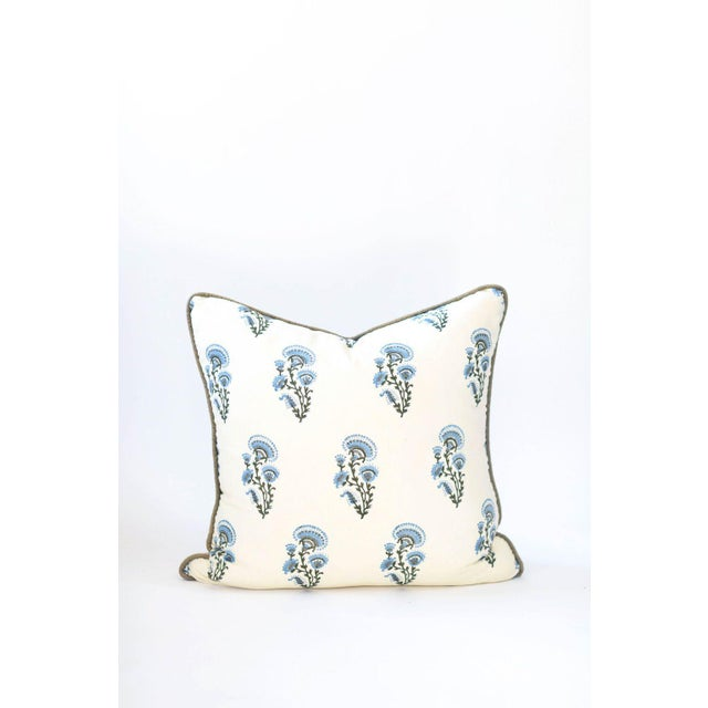 "Asian Chardon Block Print Pillow - 26x26"" For Sale - Image 3 of 3"