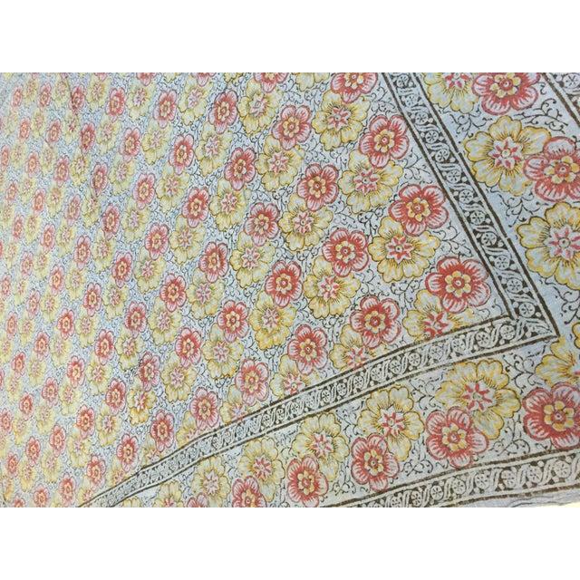 Metal Kalamari Blue Textile From India For Sale - Image 7 of 9