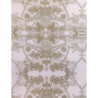Erica Tanov Botanicus Wallpaper in Blush + Gold Leaf - 1 Roll For Sale