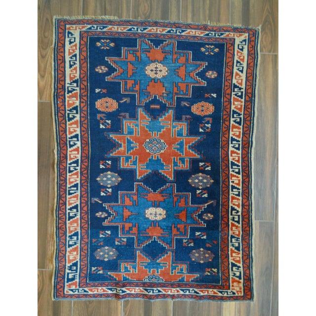 "Vintage Caucasian Kazak Rug - 3'6"" X 4'8"" - Image 2 of 9"