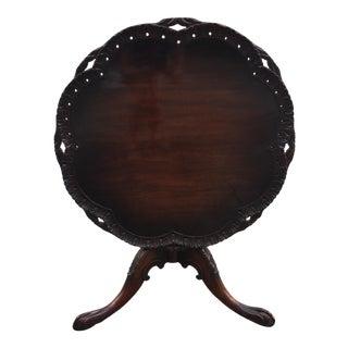 Vintage Mahogany Georgian Tea Table For Sale
