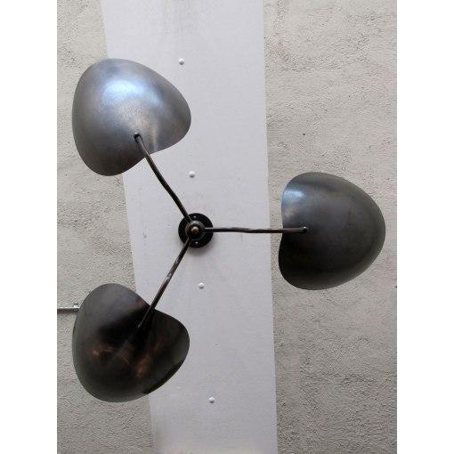 """Chiton"" Three Arm Brass Chandelier - Image 8 of 9"