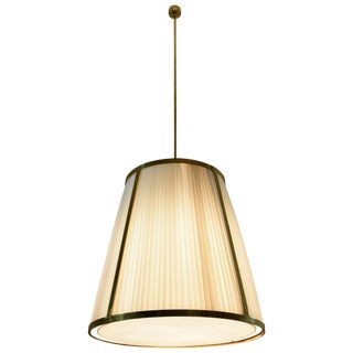 Caeli-I Contemporary Monumental Brass Pendant Light, Flow Collection For Sale