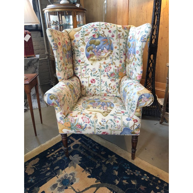 Early 19th Century Antique William IV English Wingback Armchair For Sale - Image 10 of 10