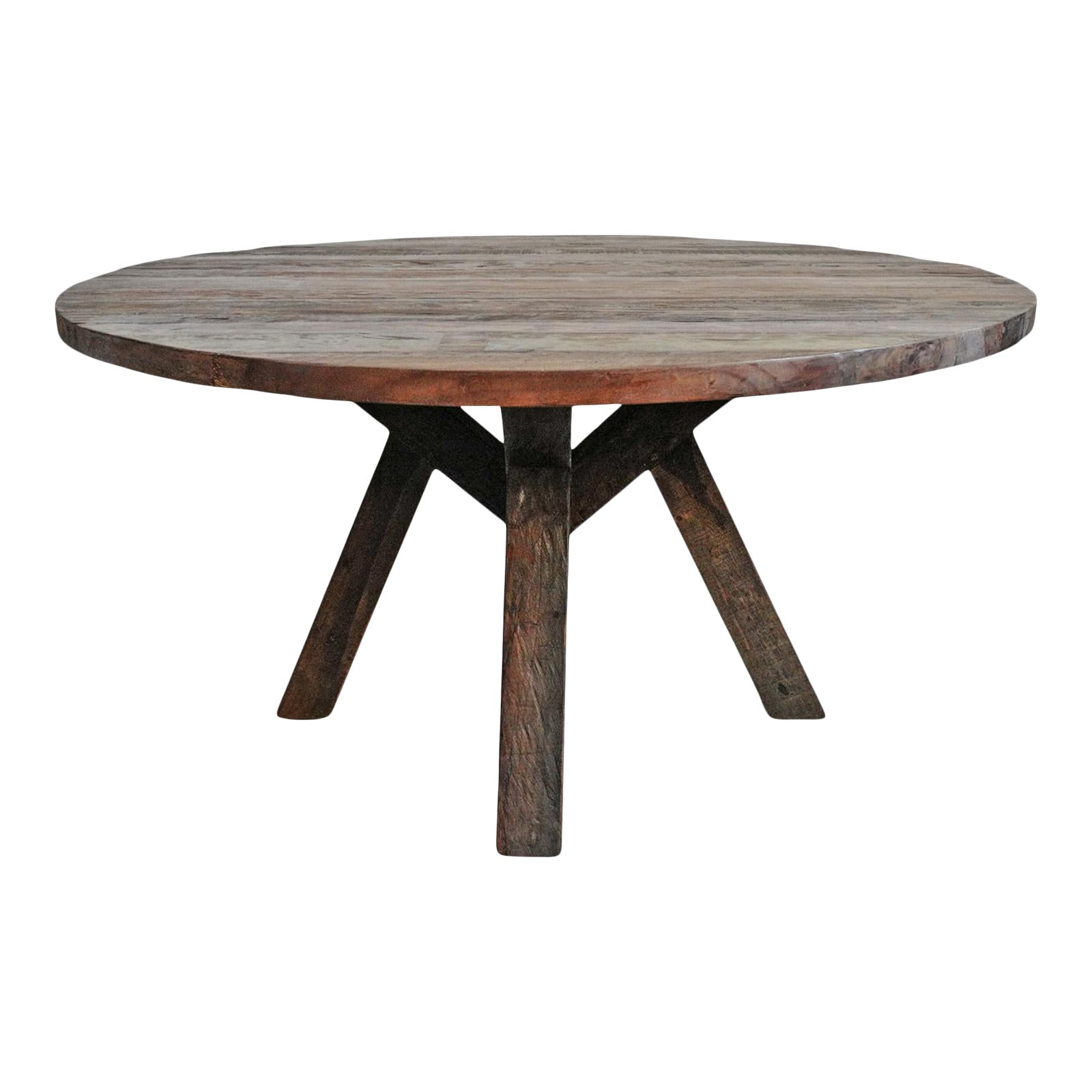 Reclaimed Wood Round Dining Table, Reclaimed Wood Round Dining Room Table