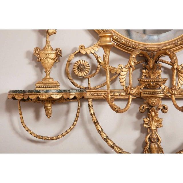 George III Style Giltwood Girandole Mirror For Sale - Image 9 of 11