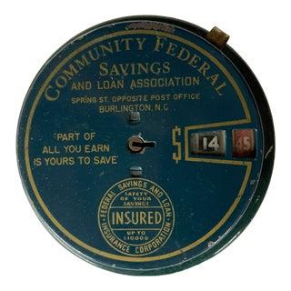 Vintage Community Federal Metal Savings Bank For Sale