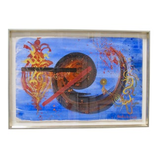 Hendrik Grise Masterwork Surrealist Nude Woman Mixed Media Original Painting For Sale