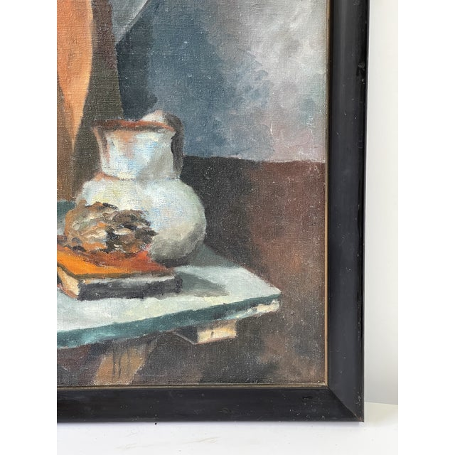 Midcentury Still Life Oil Painting For Sale In Atlanta - Image 6 of 12