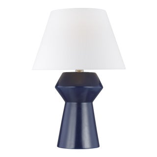 Chapman & Myers by Generation Lighting Abaco Inverted Table Lamp, Ink Blue
