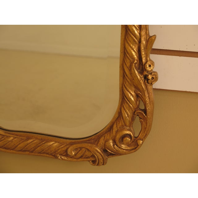 2010s Friedman Brothers Gold Framed Beveled Glass Mirror For Sale - Image 5 of 10