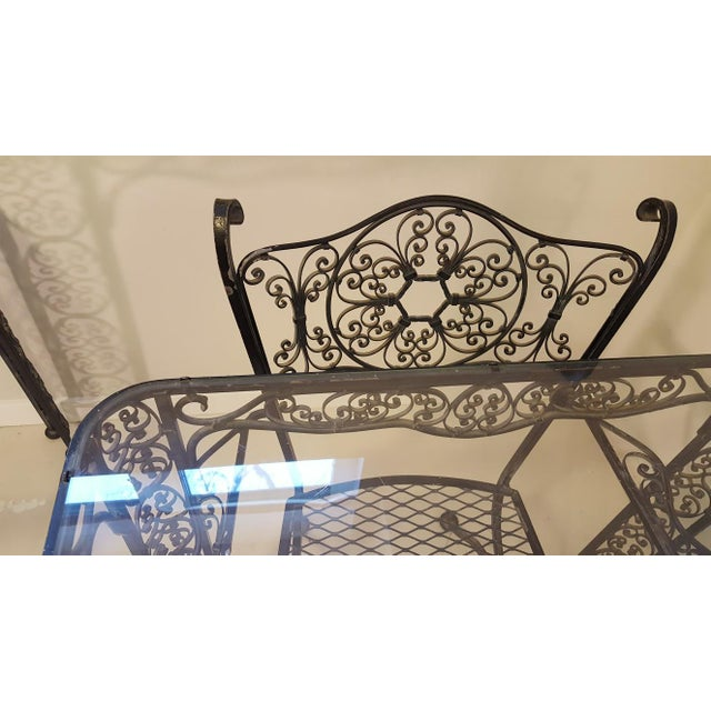 Lee L. Woodard & Sons Mid-Century Wrought Iron Dining Set- 5 Pieces For Sale - Image 9 of 10