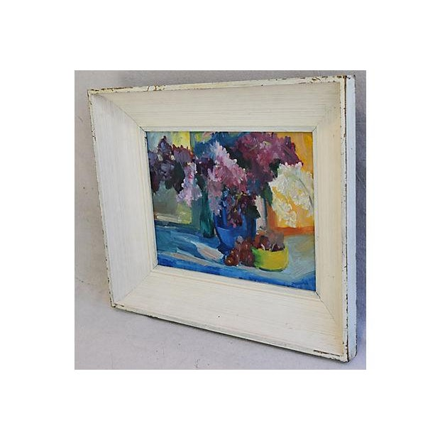 1940s Beautiful Floral Still life Oil Painting - Image 6 of 9