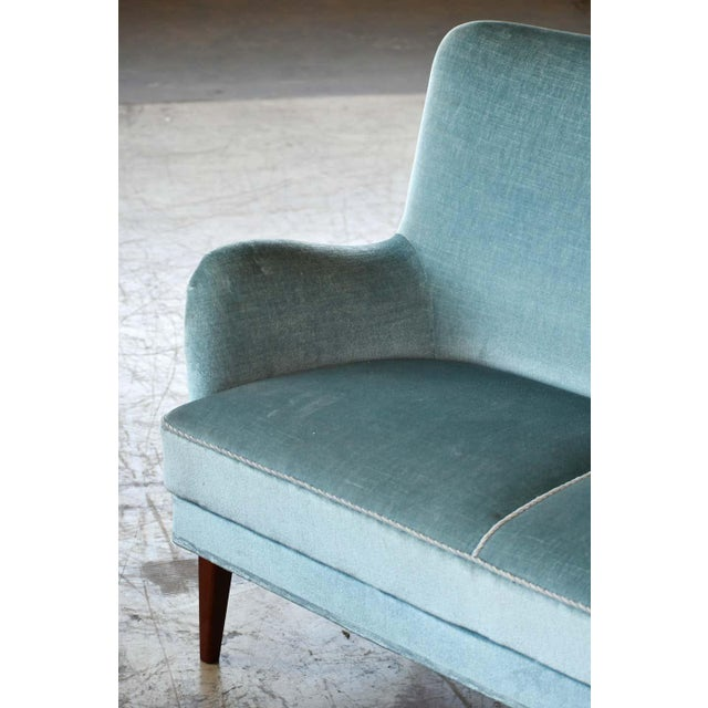 Wood Classic Frits Henningsen Style Settee or Loveseat Danish Midcentury For Sale - Image 7 of 10