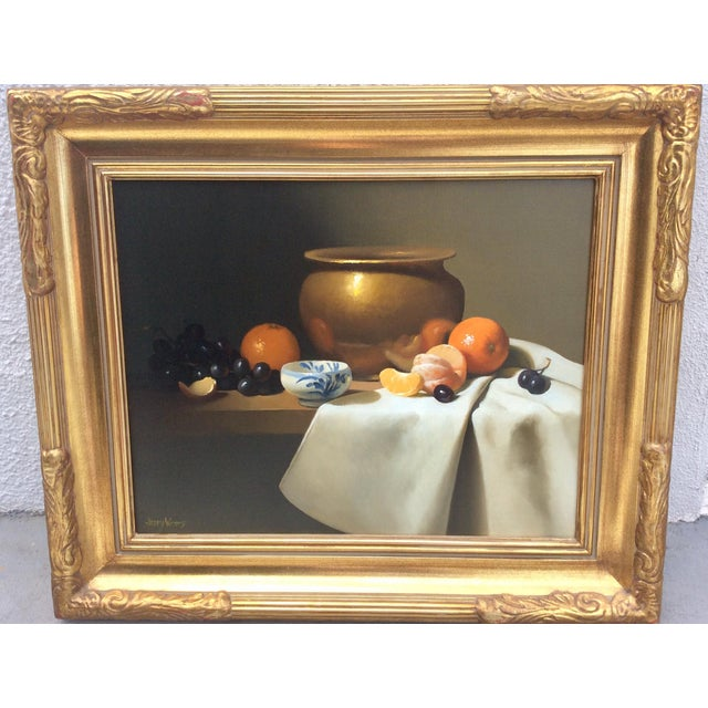 Canvas 1980s Vintage Still Life Oil on Canvas by Jerry Weers For Sale - Image 7 of 7