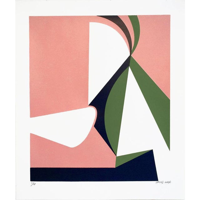 """Abstraction #2"" Silkscreen on Paper - Image 2 of 3"
