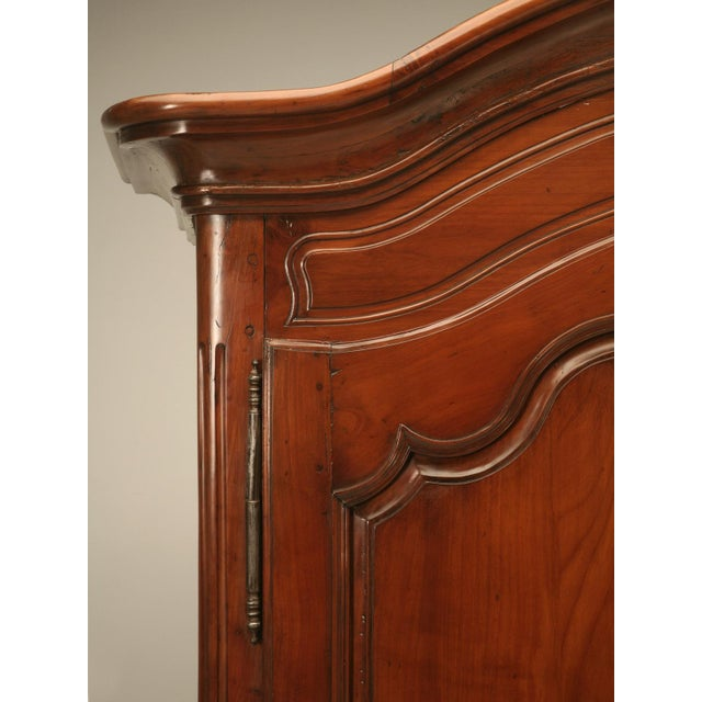 Brown Circa 1800s French Louis XV Style Cherry Wood Armoire For Sale - Image 8 of 10