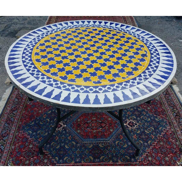 Metal Moroccan Multi-Color Mosaic Coffee Table For Sale - Image 7 of 7