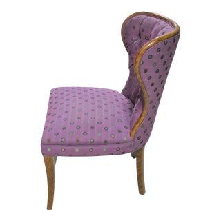 Vintage Faux Tortoise Shell Oil Drop Finish Desk Chair / Side Chair For Sale