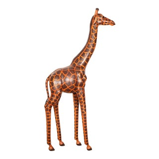 1970's Leather Giraffe