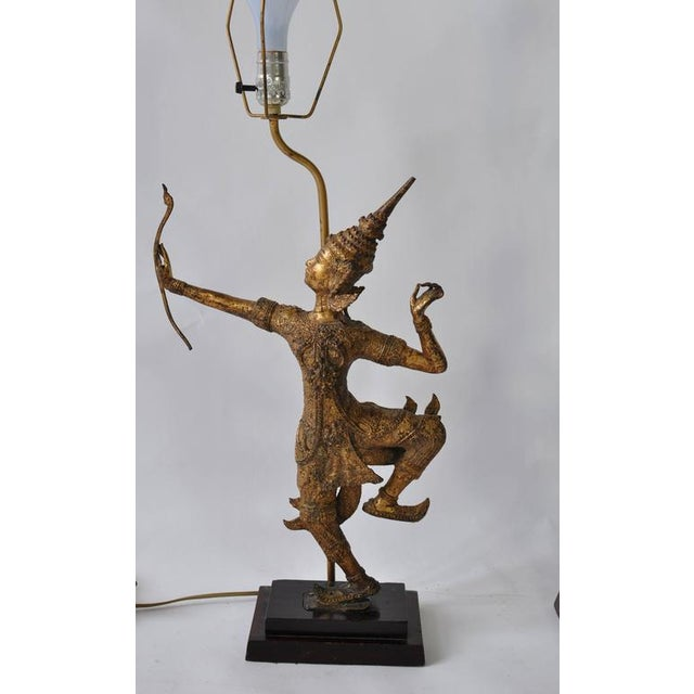 Early 20th Century Collection of Vintage Thai Figure Lamps For Sale - Image 5 of 10