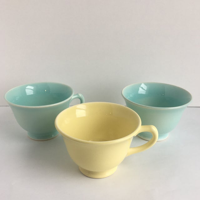 1940s Ts and T LuRay Pastels Teacups - Set of 3 For Sale - Image 11 of 11
