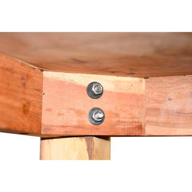 Reclaimed Wood Dining Table - Image 4 of 4