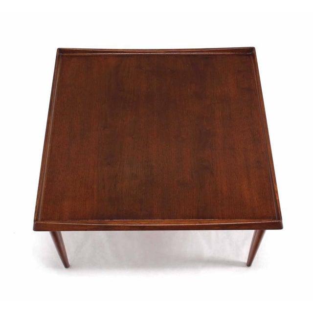 Danish Modern Danish Modern Teak Square Rolled Edge Coffee Table For Sale - Image 3 of 9