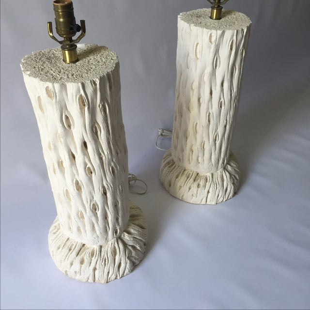 Modern John Dickinson Style Tree Trunk Lamps - A Pair For Sale - Image 3 of 7