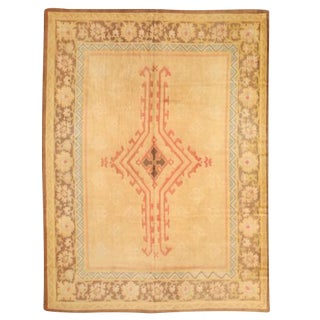 Antique French Art Deco Carpet For Sale